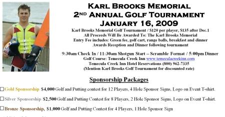 2009 Karl Brooks Memorial Golf Tournament