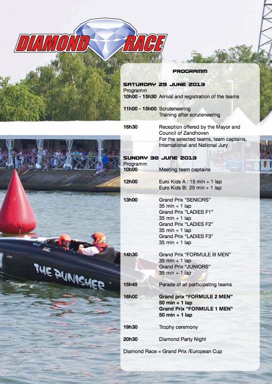 Diamond Race Programme of Events